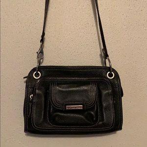 Women's Black Leather Crossbody